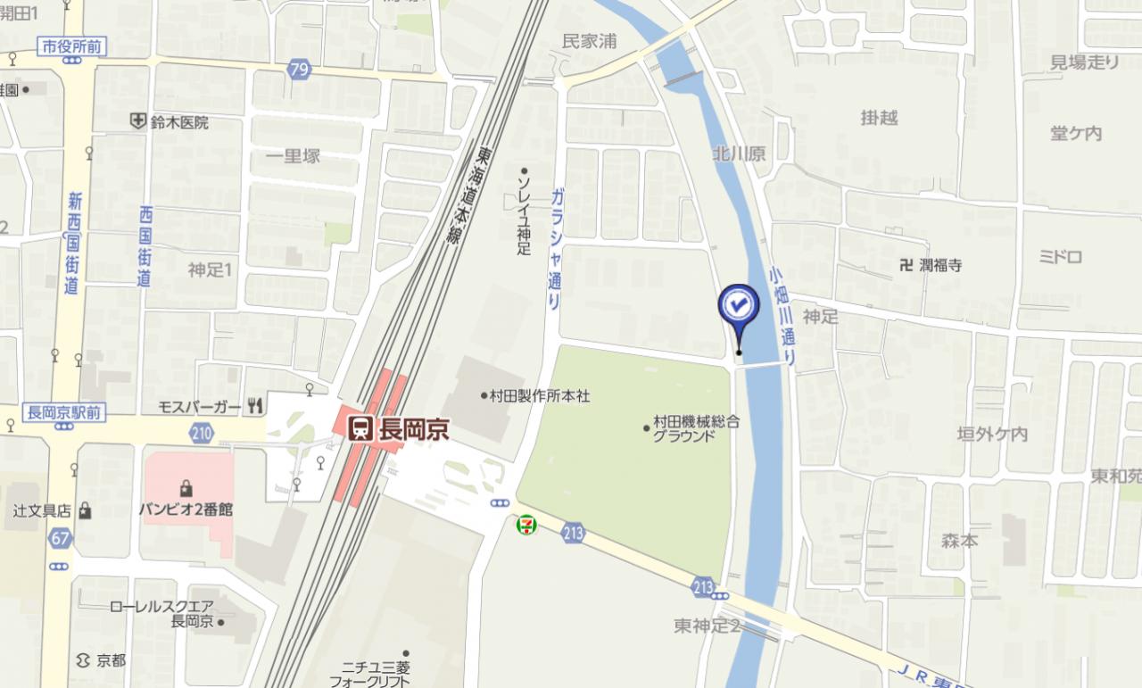 長岡京駅周辺マップ