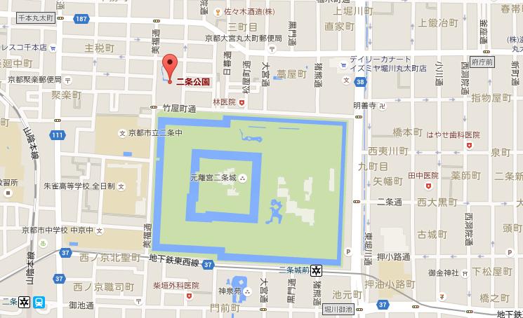 二条公園マップ